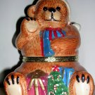 Mr. Christmas Bear Porcelain Music Box Jingle Bells, Price Includes S&H