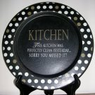 "Decorative 9"" Wooden Kitchen Plate, Price Includes S&H"