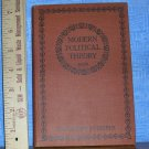 Modern Political Theory by C. E. M. Joad, Reprinted in  1933 in Great Britain, Price Includes S&H