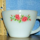Anchor Hocking Fire King Coffee Cup With Rose Design, Price Includes S&H
