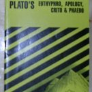 Cliffs Notes--Plato's Euthyphro, Apology, Crito and Phaedo, Price Includes S&H