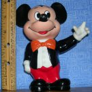 Vintage Plastic Mickey Mouse Bank with Stopper, Price Includes S&H