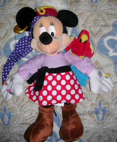 Pirate Minnie Mouse 18 Inch Plush Toy From the Disney Store, Price Includes S&H