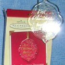"Hallmark Keepsake ""First Christmas Together"" Ornament 2003, Price Includes S&H"