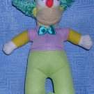 "The Simpsons Krusty the Clown Plush Stuffed  by Toy Factory 8""--2014, Price Includes S&H"