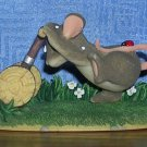 "Charming Tails by Fitz & Floyd: ""Mow, mow, mow the lawn"" Figurine, Price Includes S&H"