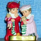 Hallmark Keepsake Sister to Sister Ornament--Sculpted by Sue Tague 1999, Price Includes S&H