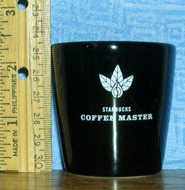 2004 Starbucks Coffee Master Black Espresso Shot Glass, Price Includes S&H
