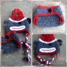 Sock Monkey Hat and Diaper Cover - Prop