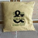 Mr & Mrs Anniversary or Wedding Pillow/Wall Hanging