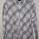 Metro Concepts, Boys Dress Shirt multi Striped long sleeve, button down, Size L