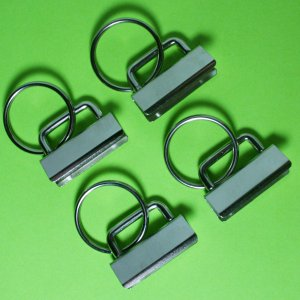 10 Key Fob Hardware with Split Ring - 1 Inch Wide