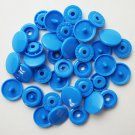 100 Sets Bright Blue (B8) KAM Plastic Resin Snaps Baby Bib Diapers