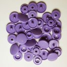 100 Sets Dark Lavender KAM Plastic Resin Snaps Baby Cloth Bib Diaper