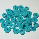 100 Sets Teal KAM Plastic Resin Snaps Crafts Baby Cloth Bib Diaper