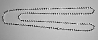 "10 Silver Plated 30"" Long Ball Chain Necklace with Connector"