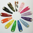 "100 - 2"" Colorful Hair Snap Clip Barrettes with Glue Pad"