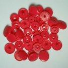 100 Sets Hot Pink KAM Plastic Resin Snaps Baby Cloth Bib Diaper