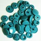 100 Sets Dull Turquoise KAM Plastic Resin Snap Baby Cloth Bib Diaper