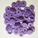 50 Sets Dark Lavender (B-28) KAM Plastic Resin Snaps Baby Cloth Bib Diaper