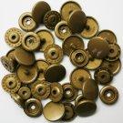 50 Sets Gold (B-11) KAM Plastic Resin Snaps Baby Cloth Bib Diapers