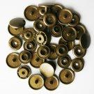 50 Sets Bronze Brown (B-12) KAM Plastic Resin Snaps Baby Cloth Bib Diapers