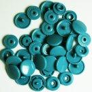 50 Sets Dull Turquoise (B-27) KAM Plastic Resin Snap Baby Cloth Bib Diaper