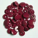 50 Sets Burgundy Plum Purple (B-34) KAM Plastic Resin Snaps Baby Cloth Bib Diapers
