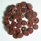 50 Sets Chocolate - Rusty Brown (B-26) KAM Plastic Resin Snaps Baby Cloth Bib Diapers