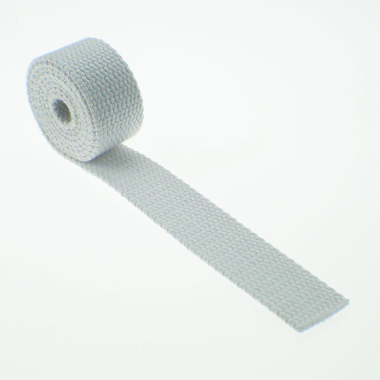 "5 Yards White 100% Cotton Webbing - 1 Inch (1"") Heavy Duty"