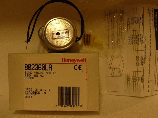 Zone Valve Motor, Honeywell 802360LA 120v for  V4043, V4044 zone valves