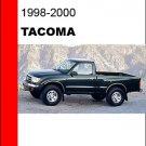 1998 1999 2000 Toyota Tacoma Service Repair Manual CD