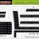 1970 BOSS 302 Ford Mustang Decal Set Black
