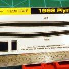 1969 Plymouth Barracuda Decal Set Black