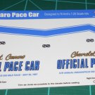 1967 Camaro Pace Car Decal Set 1:25 Scale