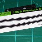 1969 Plymouth Barracuda 383 Decal Set Black
