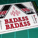 Badass 55' Pro Sportsman Decal Set Black