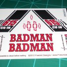Badman 55' Pro Sportsman Decal Set Black