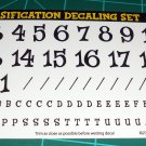 Drag Classification Decal Set Black