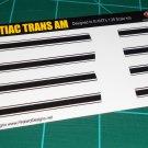 1969 Pontiac Trans Am Decal Set Black