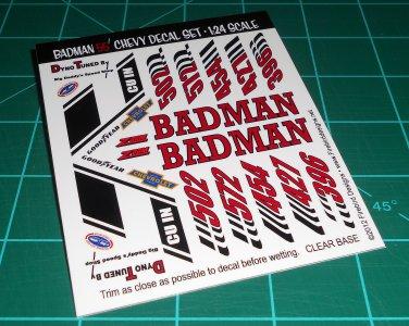 Badman 55' Decal Set A