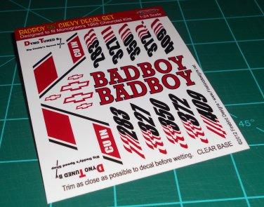 BadBoy 55' Decal Set B