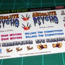 Absolute Pyscho Gasser Decal Set