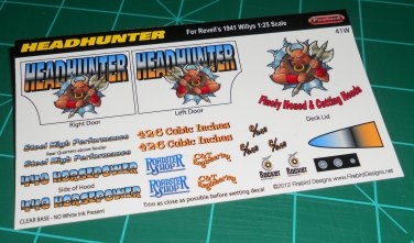 Headhunter Decal Set for 41 Willys