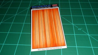 Wood Flat Bed Decal Set for Monogram's Beer Wagon Kits