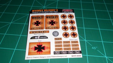 Whiskey Delivery 2 Decal Set B for Monogram's Beer Wagon Kits