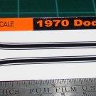 1970 Dodge Challenger R/T Decal Set Black