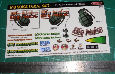 Big Noise Decal Set for 41 Willys
