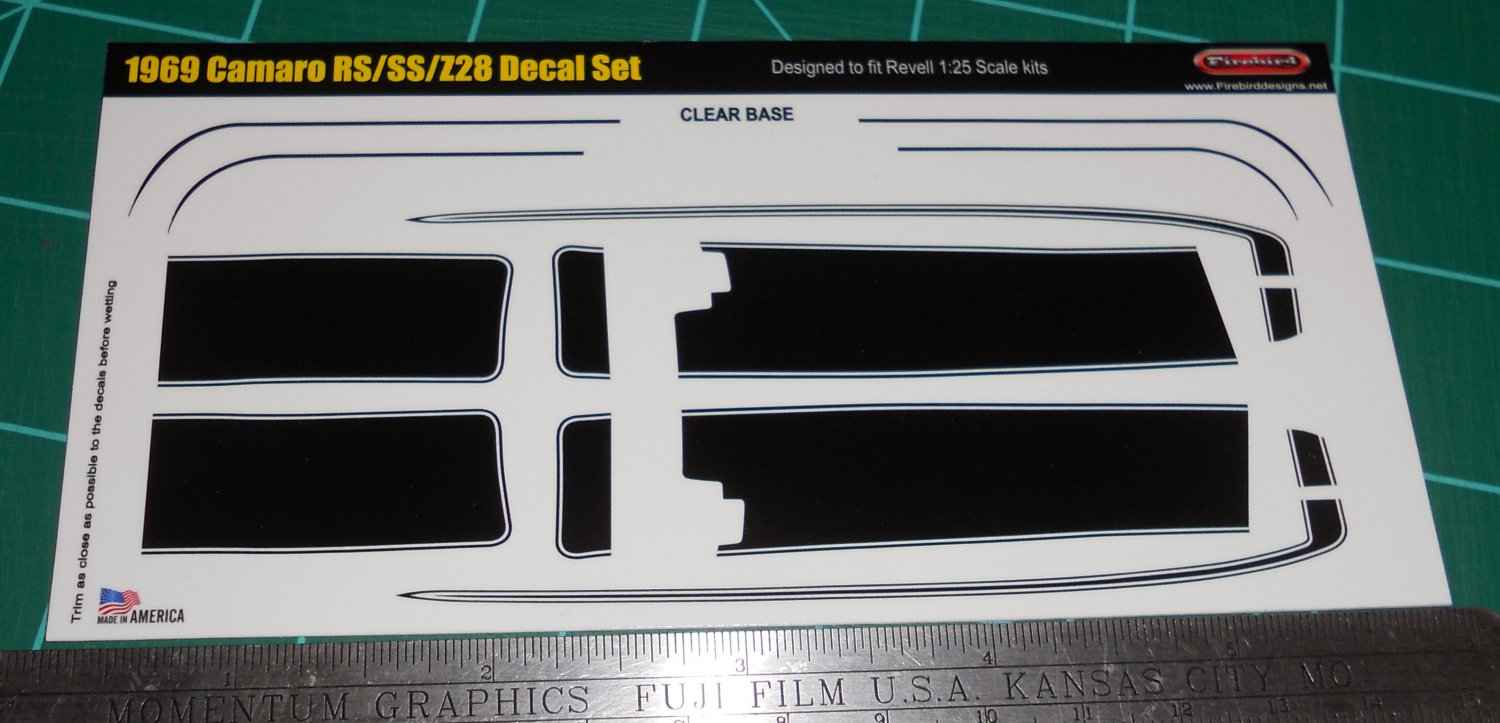 1969 Camaro Z28 >> 1969 Camaro RS/SS/Z28 Decal Set - Black