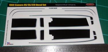 1969 Camaro RS/SS/Z28 Decal Set - Black